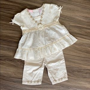 Baby Headquarters matching set flowers 18 Month